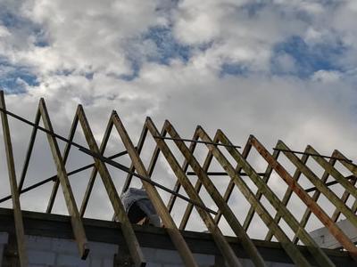 budowa szkieletu dachu 1