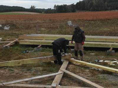 budowa szkieletu dachu 3